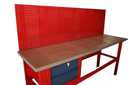 S/W/T/01/02 stół warsztatowy z szafką 2 – szufladową S/N/2 i tab