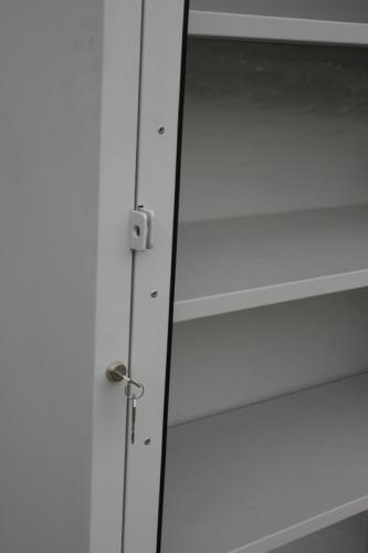 S/N/P/01 – szafa warsztatowa z drzwiami plexi na kołach;
