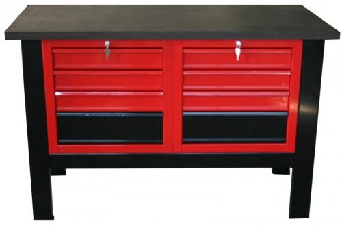 S/W/18 – Stół warsztatowy z blatem 1400×600 z dwiema szafkami 4
