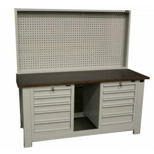 S/W/73 – Stół warsztatowy z blatem 1960x730x40, z 2-ma szafkami