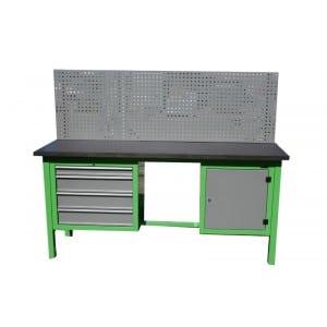 S/W/1/09 – Stół warsztatowy z kratownicą i szafkami